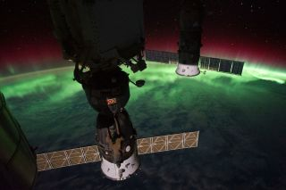 Auroral Glow Over Earth