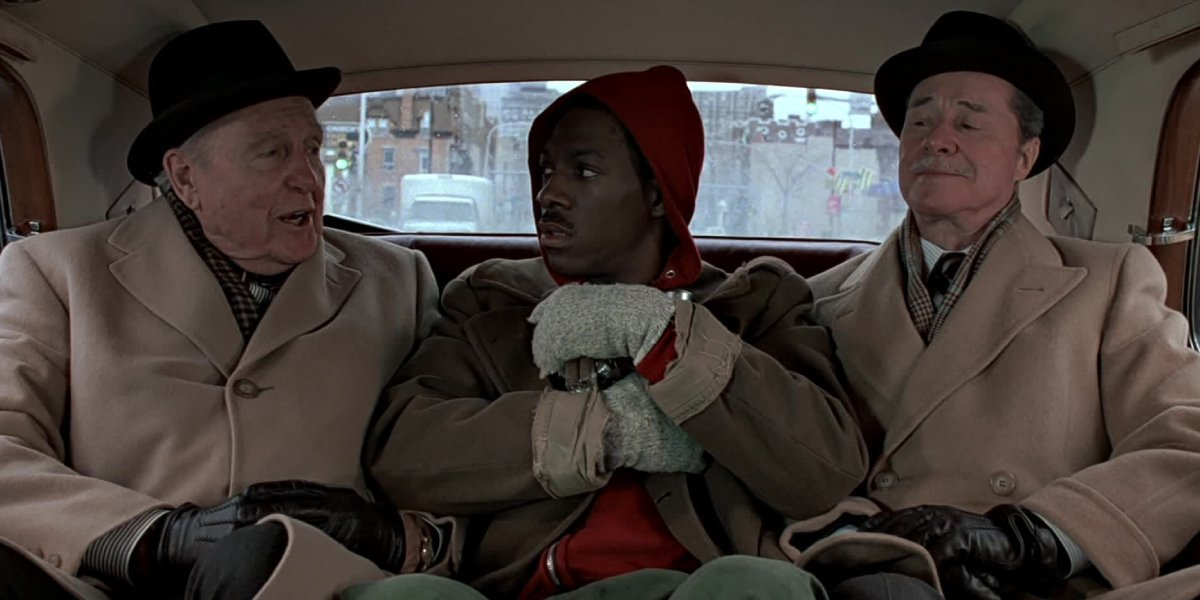 Ralph Bellamy, Eddie Murphy, and Don Ameche in Trading Places