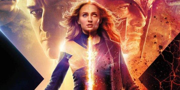 Dark Phoenix Jean powers up between Professor X and Magneto