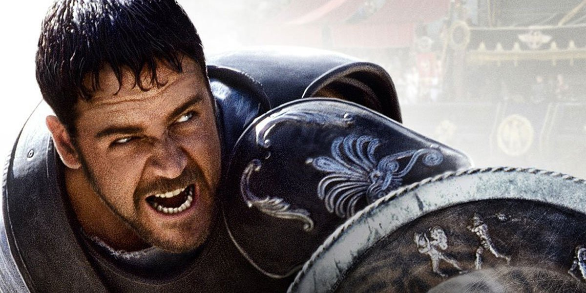 Russell Crowe in Gladiator 2000 official poster