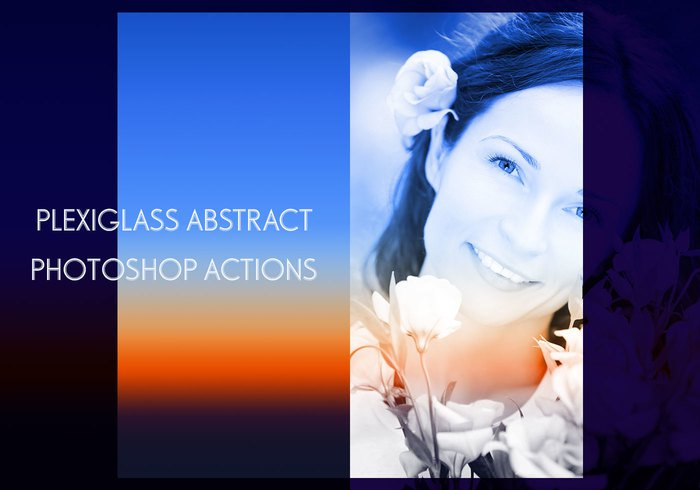 Free Photoshop actions: Plexiglass