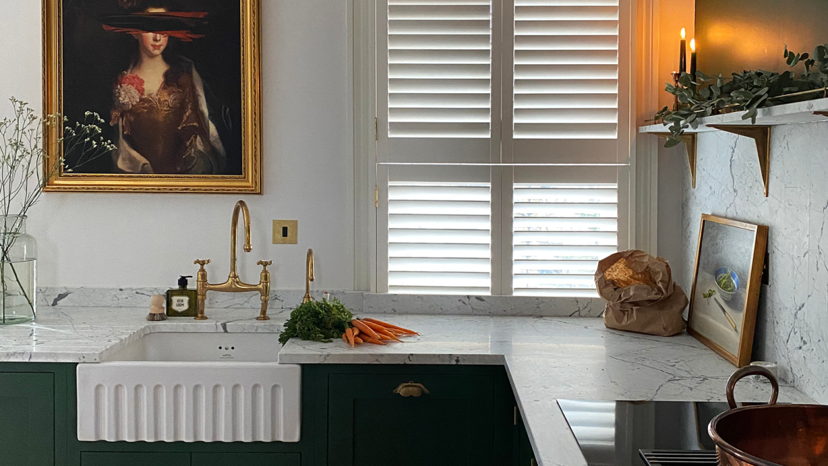 This small green kitchen makeover proves you don't need a lot of space to make a big impact