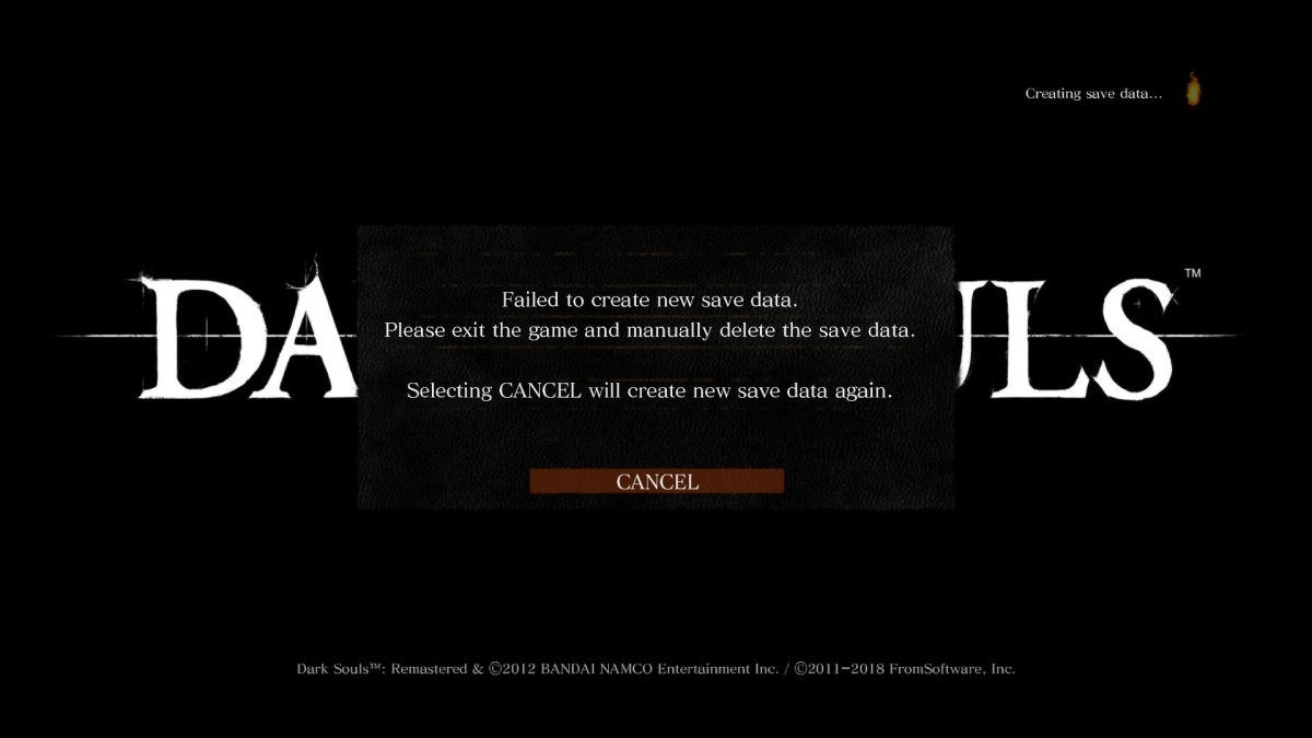 Dark Souls Remastered save files corrupted by antivirus software