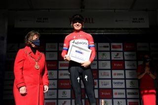 Amy Pieters of Team SD Worx celebrates winning stage 2