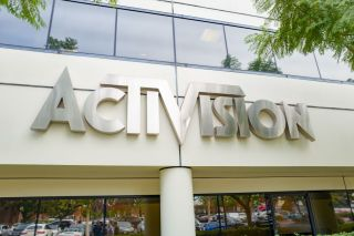 """An """"Activision"""" sign on the facade of one of the company's office buildings in LA."""