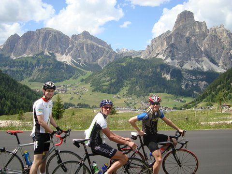 David, Glen and Bjoern, Maratona dles Dolomites 2009