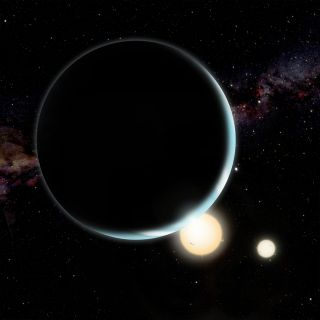 Kepler-34b Artist Illustration