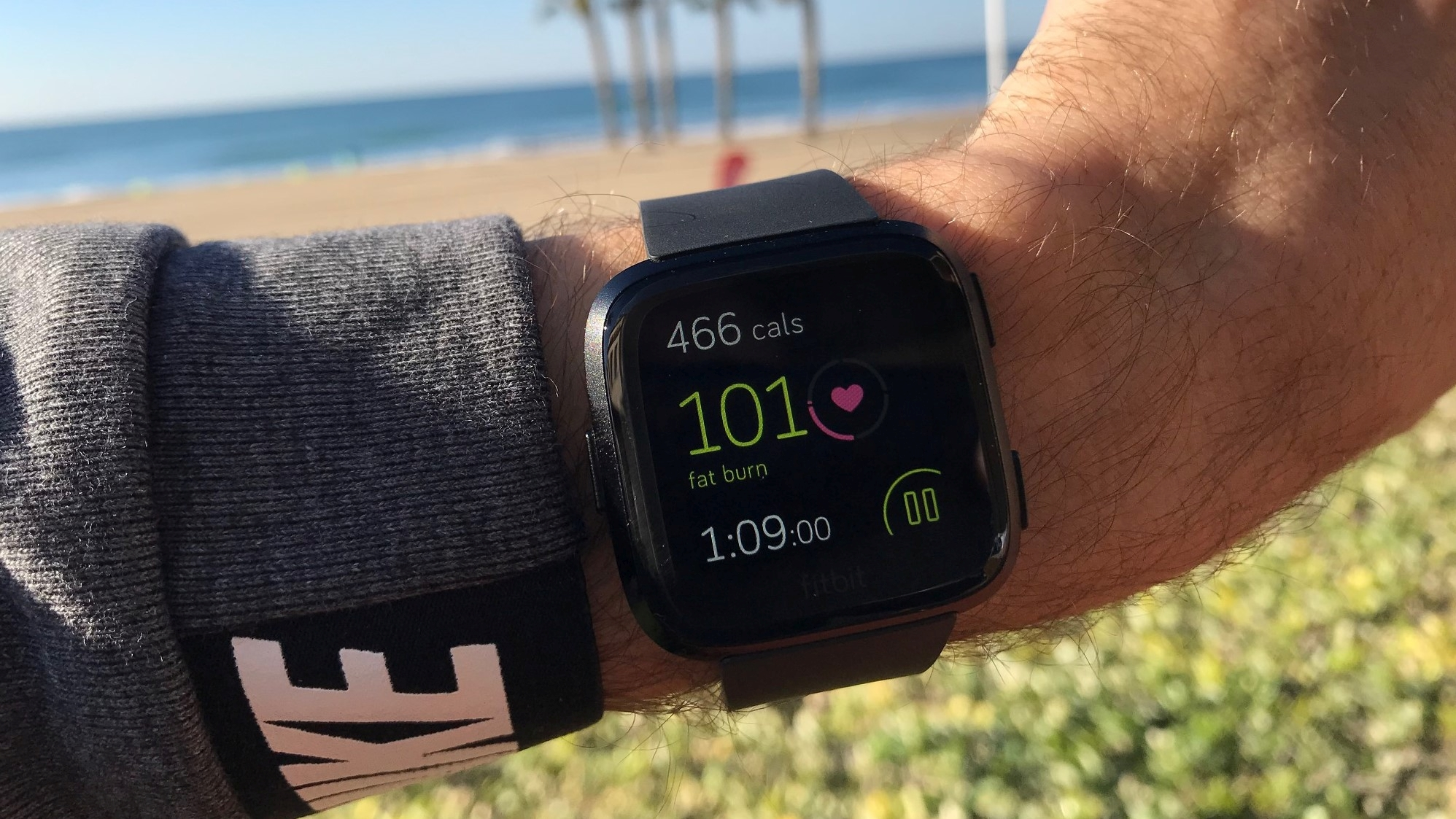 There are many dedicated workout options on the Versa's Exercise app