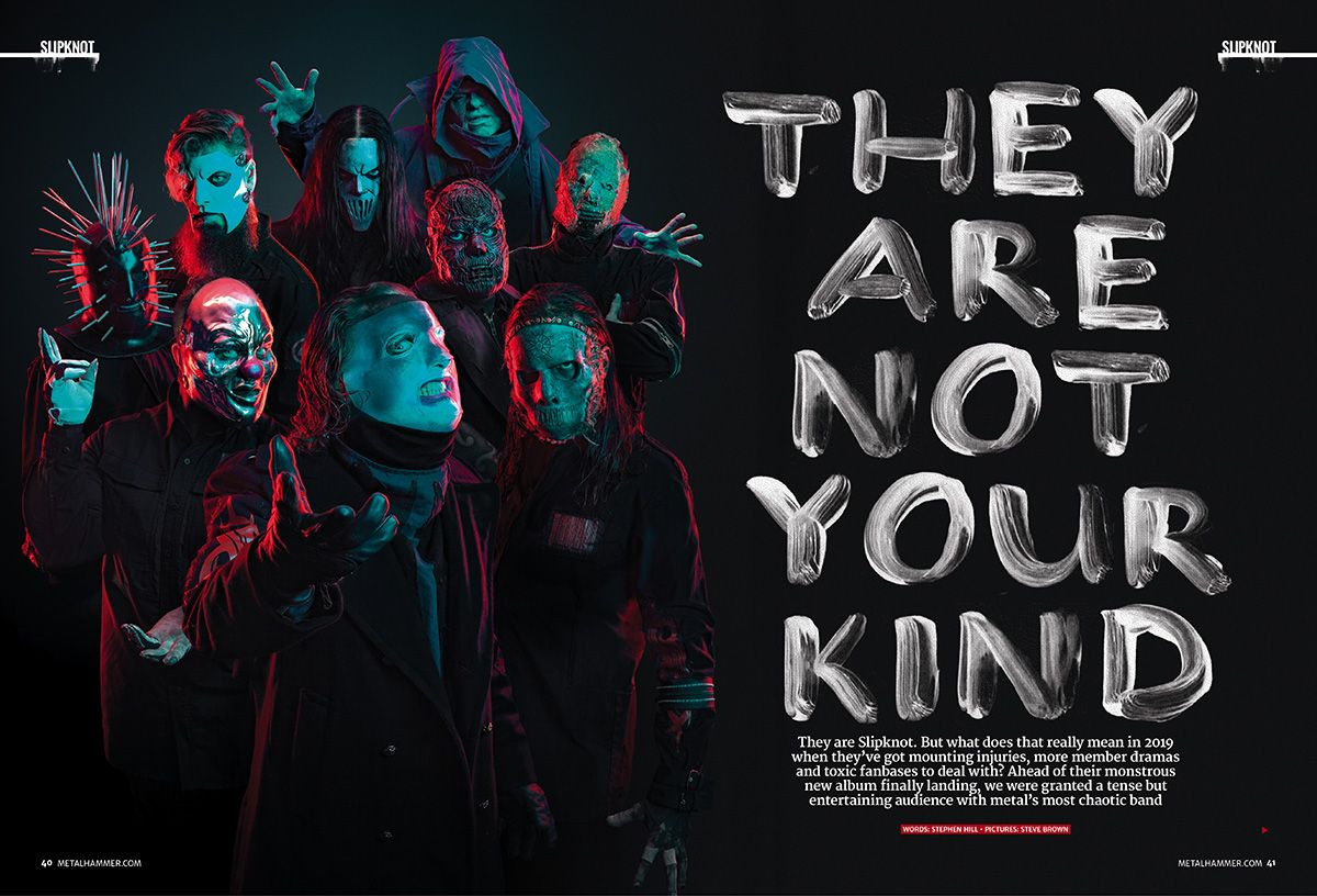 Slipknot dominate the cover of the new issue of Metal Hammer nine