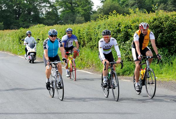 Mark Cavendish and Lord Sugar's Essex ride