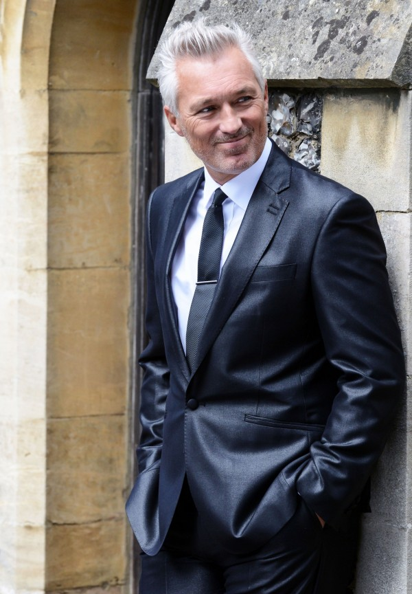 Martin Kemp filming Birds Of A Feather