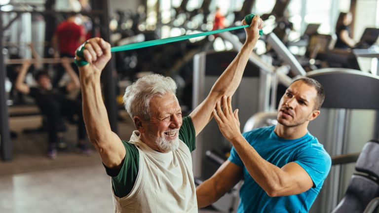 Joint friendly workout with low-impact exercises