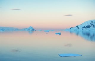 The view from Station Obama, located off the Antarctic Peninsula.