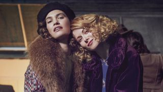 Lily James and Emily Beecham in The Pursuit of Love.