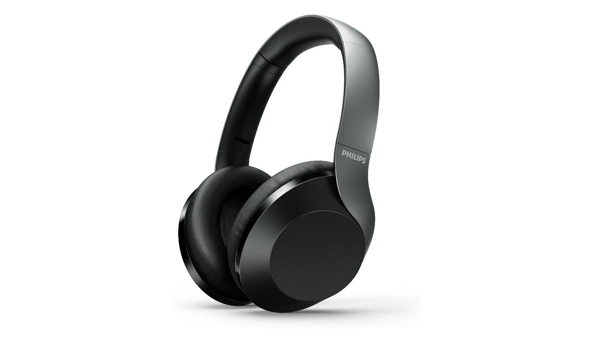 The Philips PH805 headphones in black