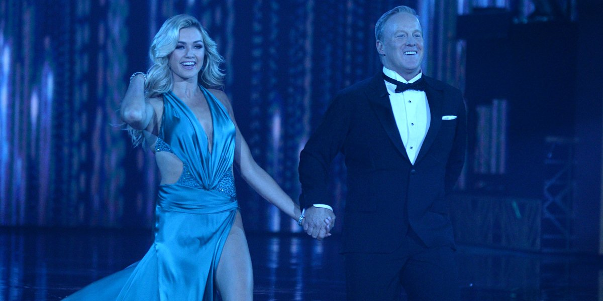 Lindsay Arnold and Sean Spicer dance in Dancing With the Stars Season 28 on ABC