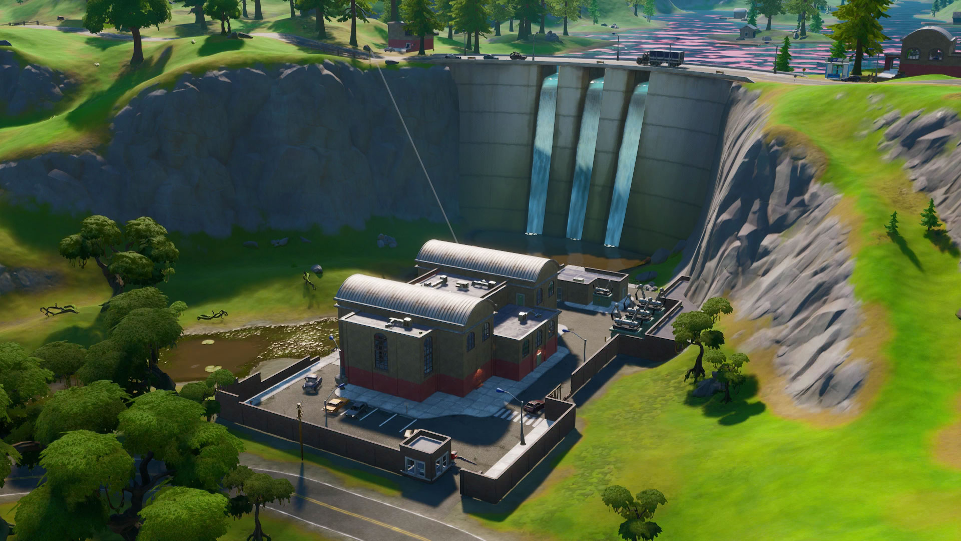 Land at the Rig, Hydro 16, and Logjam Woodworks - Fortnite ...