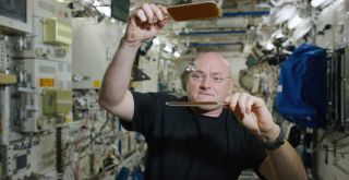 "Scott Kelly ""Ping-Pong"" with Water"