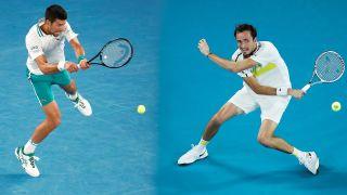 Novak Djokovic och Daniil Medvedev