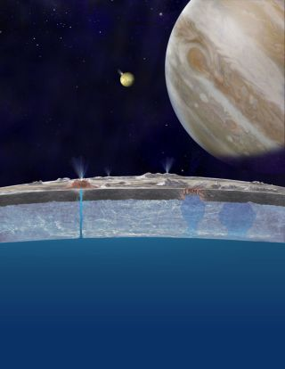 Europa Cross-Sectional Illustration