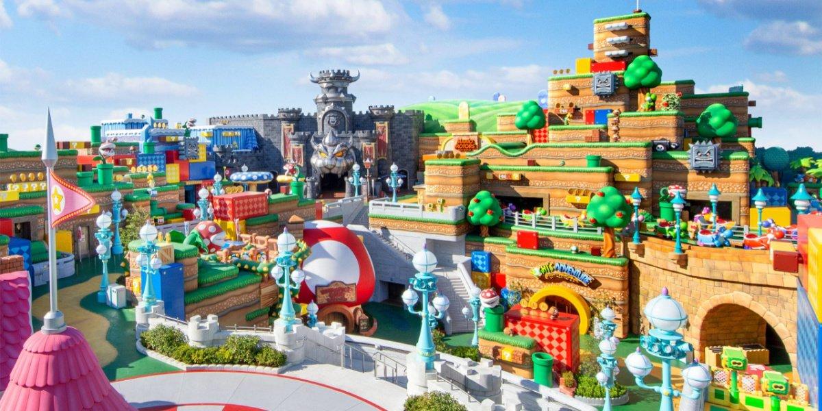 What Super Nintendo World looks like.