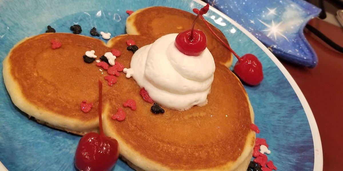 Chef Mickey's pancake cute