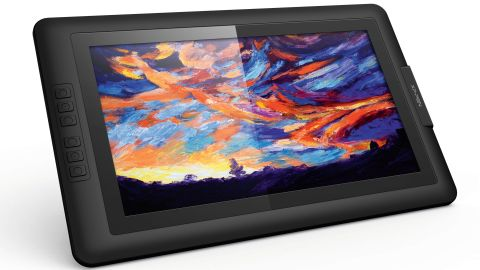 15.6 tablet displaying a painting of a sky