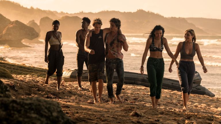 OUTER BANKS (L to R) CARLACIA GRANT as CLEO, JONATHAN DAVISS as POPE, RUDY PANKOW as JJ, CHASE STOKES as JOHN B, MADISON BAILEY as KIARA and MADELYN CLINE as SARAH CAMERON in episode 210, When will Outer Banks season 3 be on Netflix?