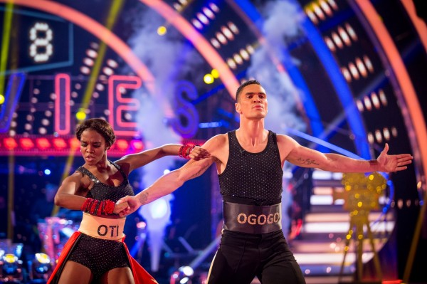 Anthony Ogogo dances on Strictly Come Dancing