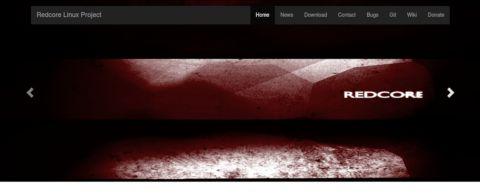 Screenshot of Redcore Linux's website