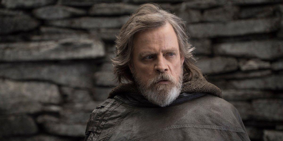 Luke on Ahch-To in Star Wars: The Last Jedi