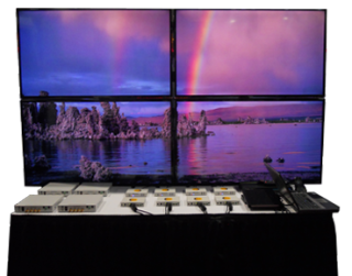 Opticomm-EMCORE Video Wall at InfoComm