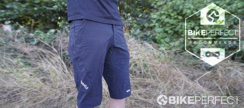 Mountain biker wearing Morvelo RAD mountain bike shorts