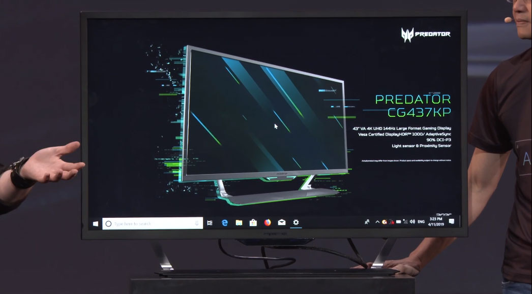 Acer goes big and bright with a 43-inch 4K 144Hz gaming monitor | PC