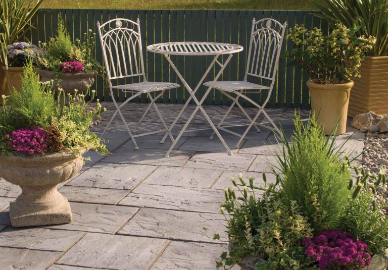 eco paving used as patio from Bradstone