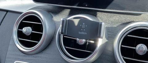Belkin Car Vent Mount mounted on car dash vent