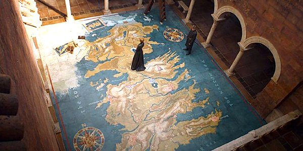 Game of Thrones map, King's Landing, HBO