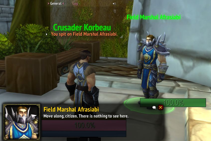 Afrasiabi also had NPCs named after him in World of Warcraft, which were removed in 2021.