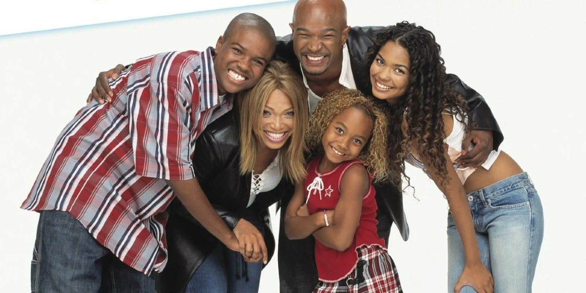 Damon Wayans,Tisha Campbell-Martin, George O. Gore II, Jennifer Freeman, and Parker Mckenna Posey in