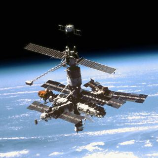The Russian Mir space station was massive.