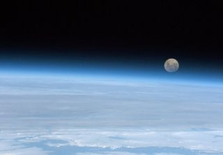 full moon from space
