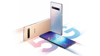 A trio of Samsung Galaxy S10 5G phones