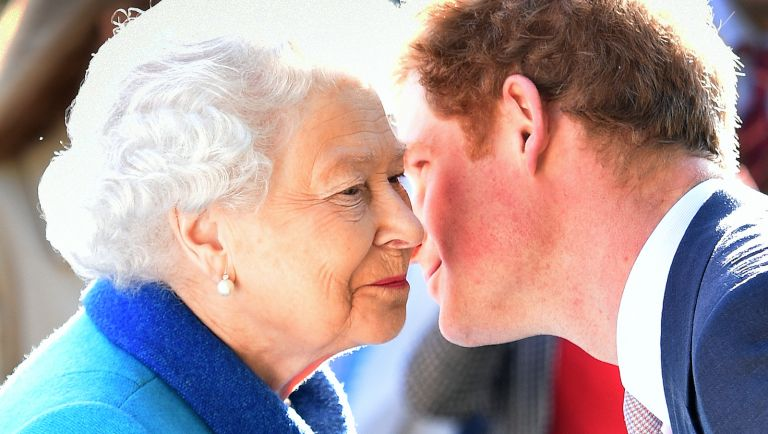 the queen, prince harry
