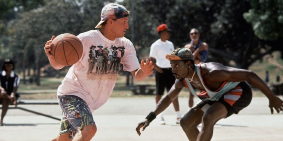 Woody Harrelson and Wesley Snipes in White Men Can't Jump