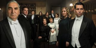 Downton Abbey the staff of Downton in the kitchen
