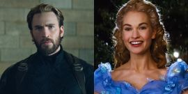 Is Chris Evans Not Social Distancing While Working In London Or Is Lily James In His Bubble?