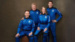 blue origin ns18 crew with William Shatner