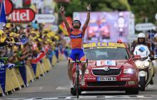 Luis Leon Sanchez (Rabobank) won the stage to Foix
