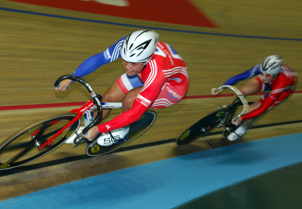 Shanaze Reade Victoria Pendleton in full flight
