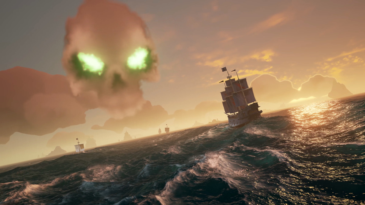 Sea of Thieves skull in the sky